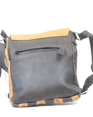A Two Tone Long Leather Shoulder Bag