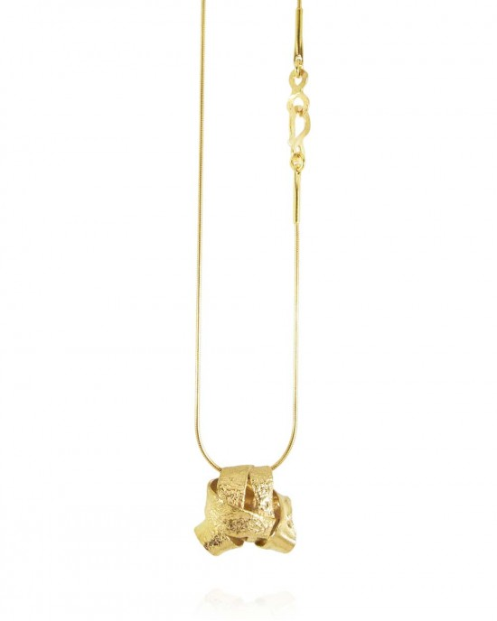 Algae Silver Gold Plated Ball Necklace - NECKLACES & PENDANTS