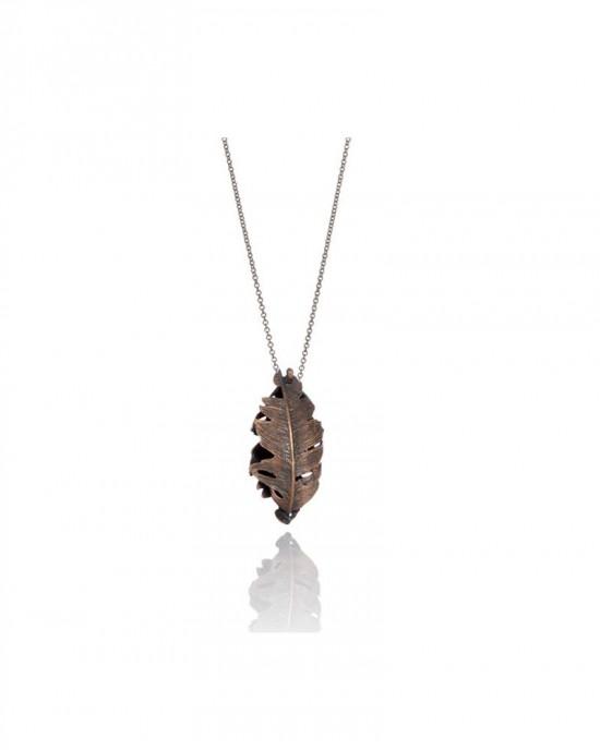 Bronze Feather Pendant - NECKLACES & PENDANTS