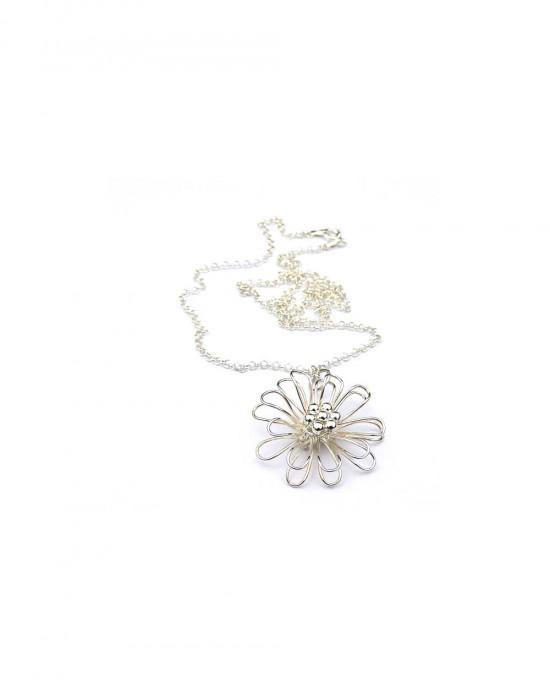 Daisy Pendant in Sterling Silver