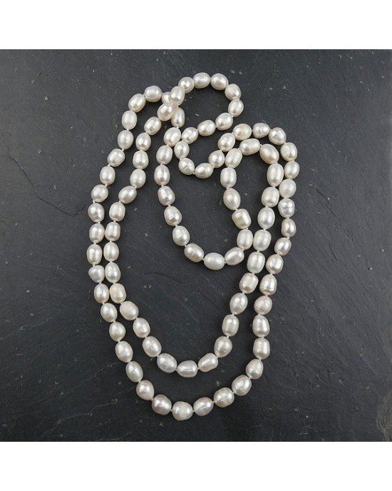 Double Freshwater Pearl Necklace - NECKLACES & PENDANTS