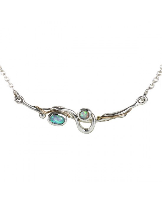 Flowing Opalite Silver Necklace - NECKLACES & PENDANTS