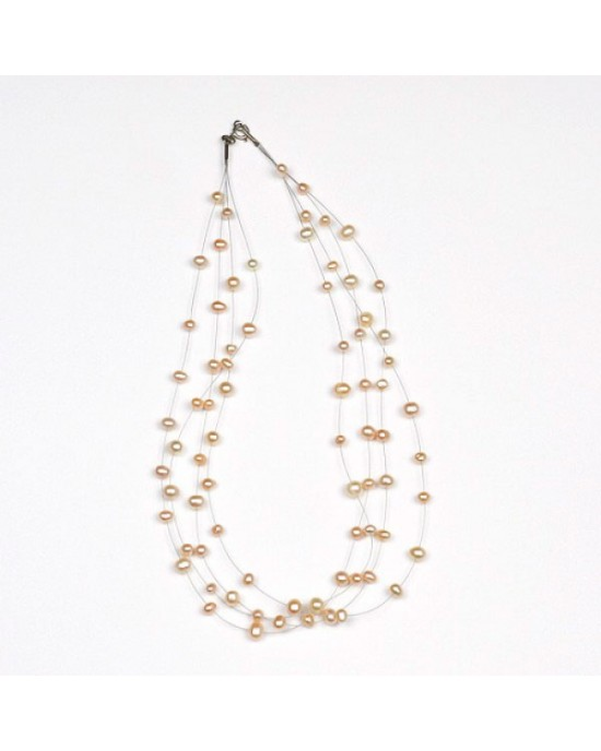 Freshwater Pink Pearl Necklace - NECKLACES & PENDANTS
