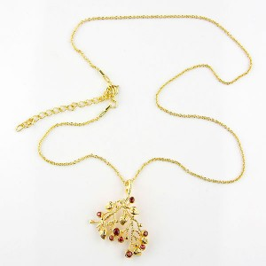 Garnet 18k Gold Plated Necklace