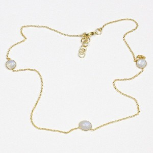 Gold Plated Necklace with Quartz