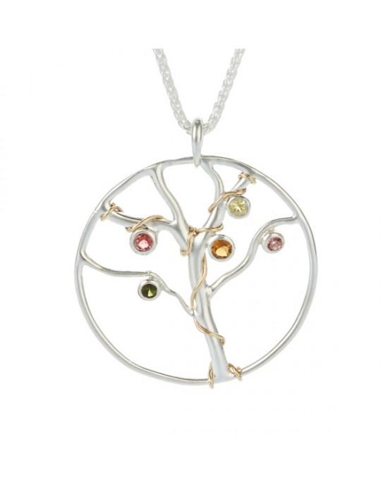 Jewelled Tree of Life Pendant - NECKLACES & PENDANTS