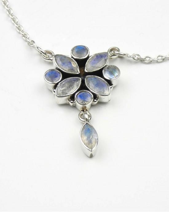 Moonstone Silver Necklace - NECKLACES & PENDANTS