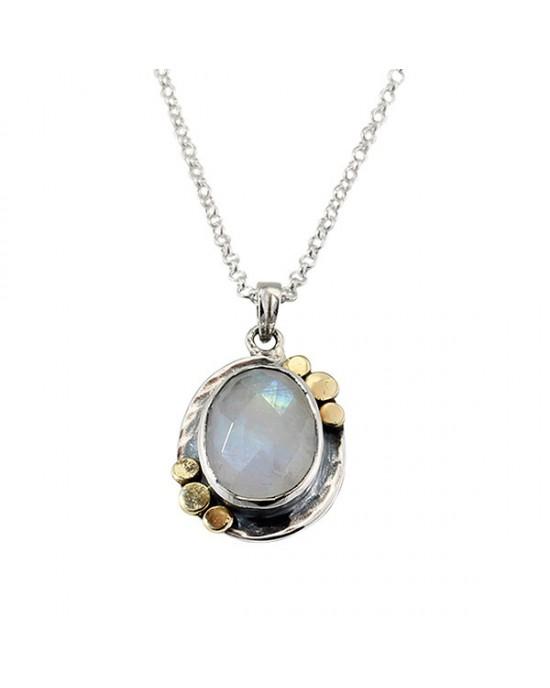 Silver Moonstone Pendant - NECKLACES & PENDANTS