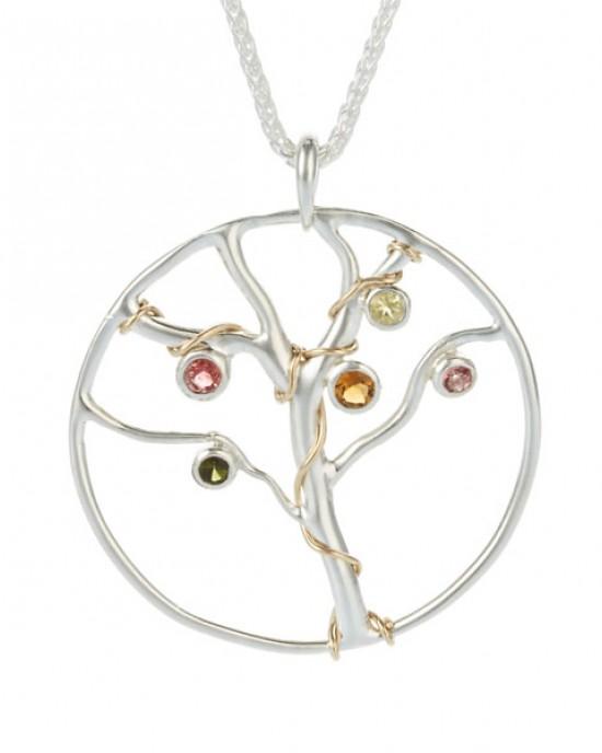 Jewelled Tree of Life Pendant