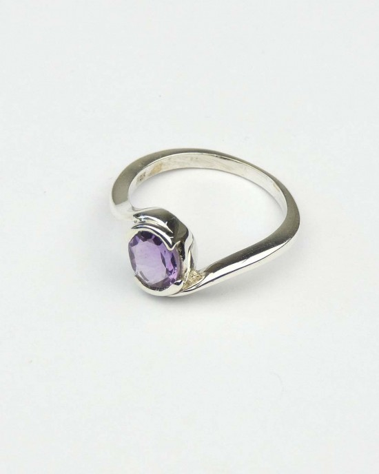 Madagascan Amethyst Silver Ring,RINGS,Claire Hartley