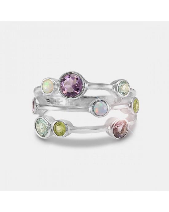 Cornucopia of Stones Silver Ring - RINGS