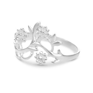 Flowering Branch Silver Ring