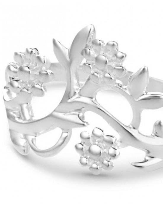 Flowering Branch Silver Ring