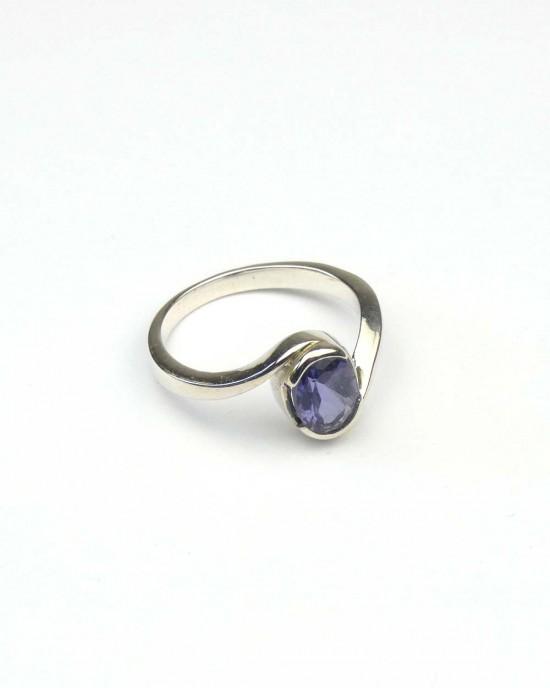 Iolite Silver Ring
