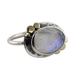 Oval Moonstone Silver Ring