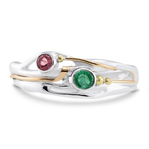 Emerald Pink Tourmaline Silver Ring