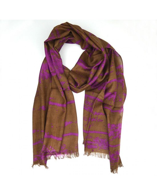 Abstract Cotton and Viscose Scarf