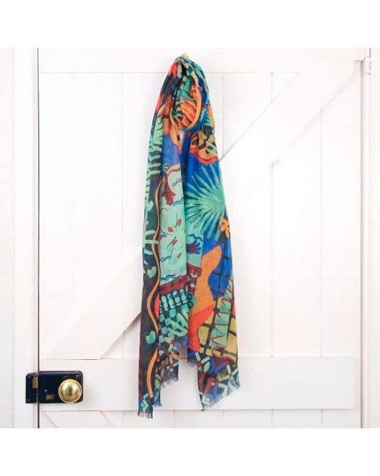 Biarritz Nuit Wool Scarf - WOOL & CASHMERE SCARVES