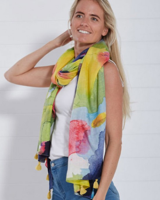 Blur Large Scarf Multi colour