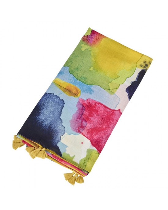 Blur Large Scarf Multi colour - SCARVES, SHAWLS, PASHMINAS