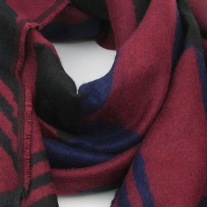 Burgundy Dark Blue Black Giant Wave Scarf