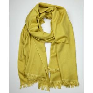 Cashmere, Silk Scarf - Mustard