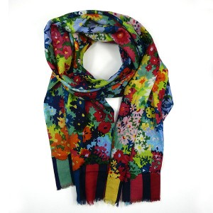 Collier Campbell Wool Scarf Floresta
