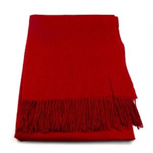 Crimson Wool Mix Scarf