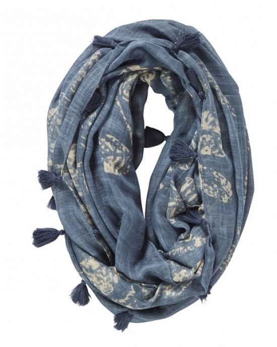 Elveden Snood Leaf Blue