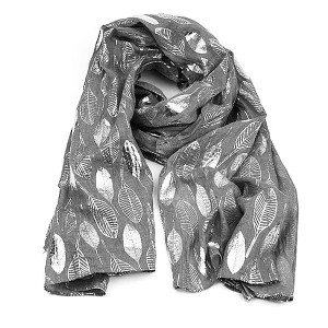 Silver Leaves Scarf Mink