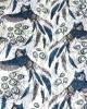 Owl Feather Print Tasselled Scarf