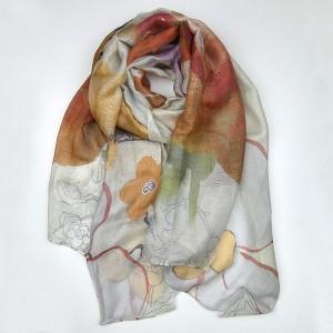 Silk Modal Floral Scarf