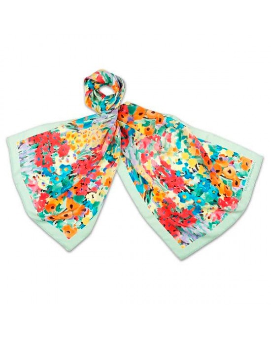 Floral Fantasy Silk Scarf - SCARVES, SHAWLS, PASHMINAS