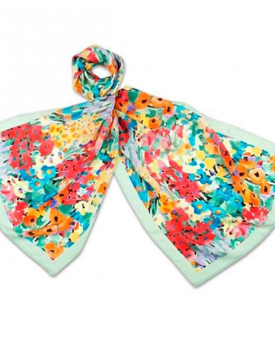 Floral Fantasy Silk Scarf