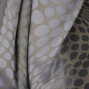 Grey Spot Print Scarf