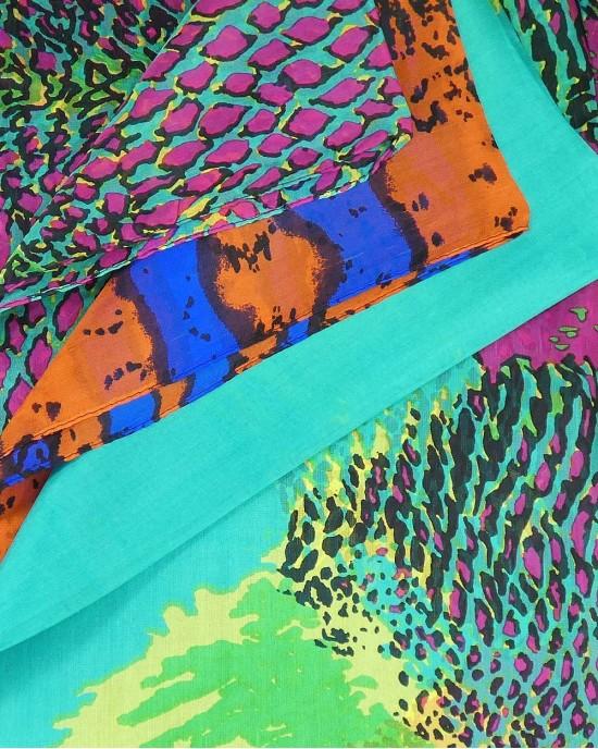 Large Silk Scarf, Synchro - SCARVES, SHAWLS, PASHMINAS