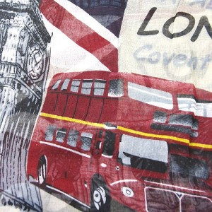 Cream Long Scarf London Scenes