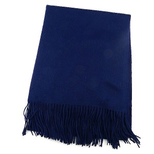 Navy  Wool Mix Scarf