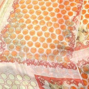 Orange Chiffon Spot Scarf