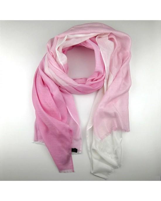 Pink Toned Summer Pashmina Shawl - SCARVES, SHAWLS, PASHMINAS