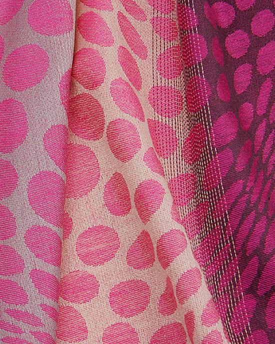 Pink Magenta Spot Print Scarf