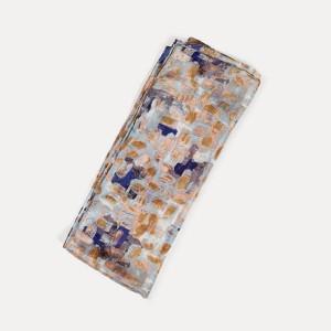Printed Silk Scarf, Brushstroke Blue