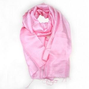 Pink Pure Silk Scarf Shawl