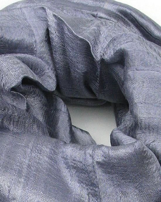 Grey Pure Silk Scarf Shawl
