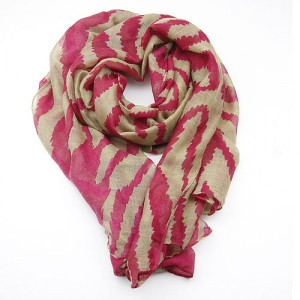 Red Large Animal Print Scarf