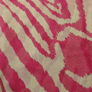 Red Large Animal Print Scarf