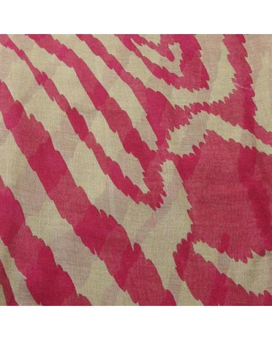 Red Large Animal Print Scarf - SCARVES, SHAWLS, PASHMINAS