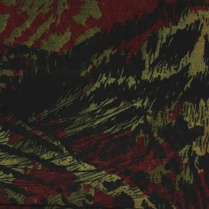 Red Leopard Head Print Long Scarf