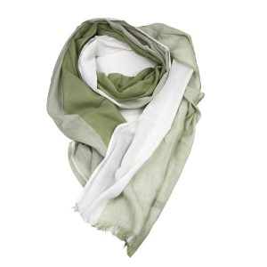 Sage Green Cotton Viscose Scarf