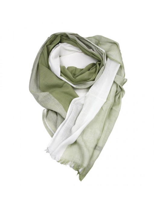 Sage Green Cotton Viscose Scarf - SCARVES, SHAWLS, PASHMINAS